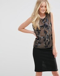 Vila Sosa Sleeveless Sequin Blouse Sosa Sleeveless Black
