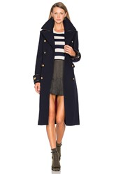 Hilfiger Collection Long Military Coat Navy