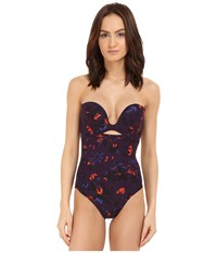 Proenza Schouler Molded One Piece Swimsuit Aubergine