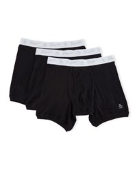 Penguin Three Pack Boxer Briefs Black