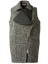 Bouchra Jarrar Tweed Gilet Green