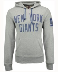 47 Brand '47 Men's New York Giants Crosscheck Hoodie Gray