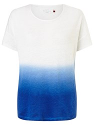 Collection Weekend By John Lewis Ombre Linen Jersey Top Blue White