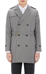 Brooklyn Tailors Belted Double Breasted Trench Coat Grey