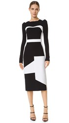 Antonio Berardi Long Sleeve Dress Black White