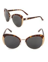 Brian Atwood 68Mm Cats Eye Sunglasses Havana Brown