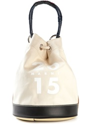 Marni Canvas Duffle Backpack Nude And Neutrals