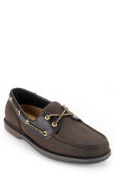 Men's Rockport 'Perth' Boat Shoe Chocolate Bark
