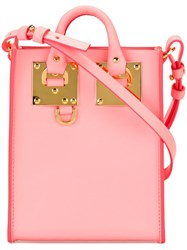 Sophie Hulme Mini Square Crossbody Bag Pink And Purple