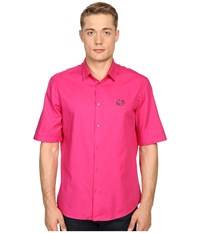 Mcq By Alexander Mcqueen Short Sleeve Sheehan Iconic Pink Men's Short Sleeve Button Up