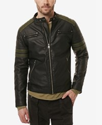 Buffalo David Bitton Men's Jaggar Moto Jacket Cannon