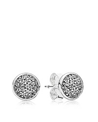 Pandora Design Earrings Sterling Silver And Cubic Zirconia Dazzling Studs
