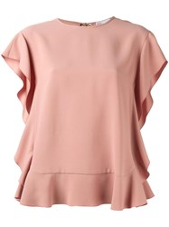Red Valentino Ruffled Blouse Pink Purple