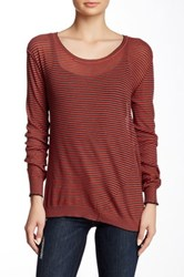 Inhabit Twisted Scoop Neck Tee Red