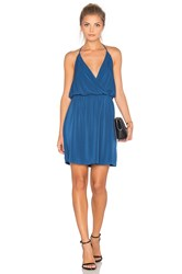 Bcbgeneration Halter Front Wrap Mini Dress Blue