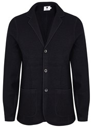 Nn.07 Wallace Navy Boiled Wool Blazer