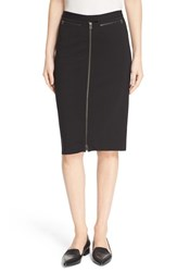 Atm Anthony Thomas Melillo Women's Front Zip Knit Pencil Skirt Black
