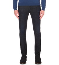 Hugo Boss Faded Regular Fit Tapered Jeans Navy