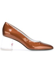Amelie Pichard Clear Heel Pumps Brown
