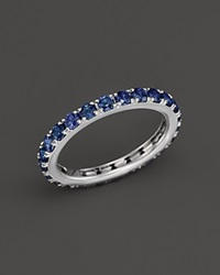 Bloomingdale's Sapphire Eternity Midi Ring In 14K White Gold Blue White