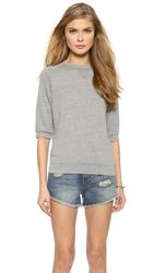 Joan Smalls X True Religion Short Sleeve Sweatshirt Heather Grey