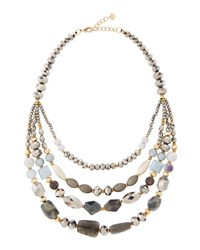 Nakamol Multi Strand Beaded Collar Necklace No Color