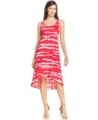 Jones New York Signature Petites Jones New York Signature Petite Hi Low Tie Dye Maxi Dress Raspberry