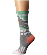 Stance Crunch Crew Teal Women's Crew Cut Socks Shoes Blue