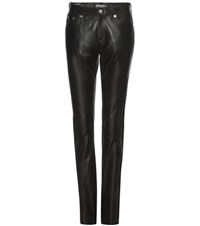 Calvin Klein Jeans Mytheresa.Com Exclusive Leather Trousers Black