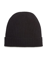 The Men's Store At Bloomingdale's Ribbed Cashmere Cuff Hat Black