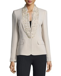 Escada Embellished Stand Collar Jacket Solitaire