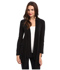 Splendid Very Light Jersey Drape Cardigan Black Women's Sweater