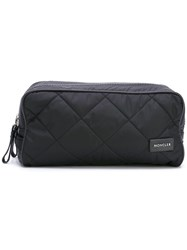 Moncler Quilted Wash Bag Black