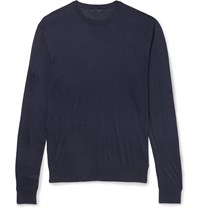 Lanvin Silk Sweater Blue