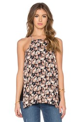 Bishop Young Thea Strappy Printed Tank Black