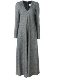 Maison Martin Margiela Maison Margiela Long Flared Dress Grey
