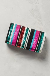Anthropologie Striped Sequins Clutch Assorted
