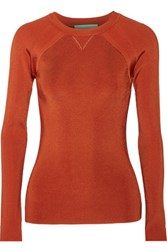 Jason Wu Ribbed Knit Sweater Bright Orange