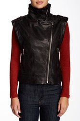 Mackage Rea Colorblock Moto Vest Black