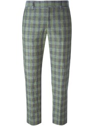 Paul By Paul Smith Checked Cropped Trousers Grey