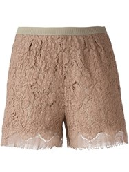 Erika Cavallini Lace Shorts Pink And Purple