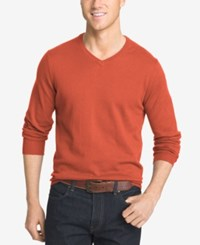 Izod Men's V Neck Sweater Roobios Tea