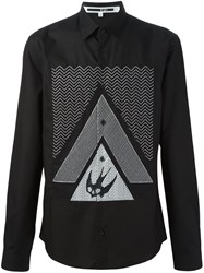 Mcq By Alexander Mcqueen Swallow Glyph Print Shirt Black