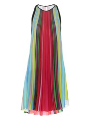 Mary Katrantzou Yas Rainbow Stripe Print Dress