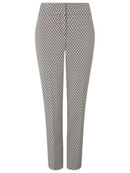 Phase Eight Erica Basketweave Trousers Ivory Grey