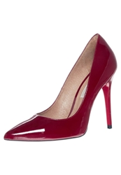 Buffalo High Heels Patent Leather Cereza Red