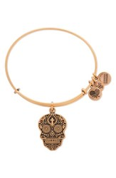 Alex And Ani Women's 'Calavera' Adjustable Wire Bangle