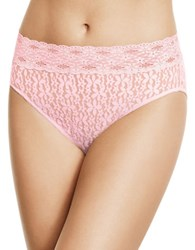 Wacoal Halo Lace Hi Cut Bikini Bottom Coral Blush