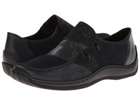 Rieker L1762 Celia 62 Lake Pacific Women's Slip On Shoes Black