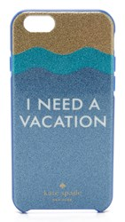Kate Spade I Need A Vacation Glitter Iphone 6 6S Case Blue Multi